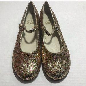 Mini Boden Glitter Sparkle Mary Janes